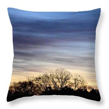 February 1 Dawn 2013 II Throw Pillow by Maria Urso