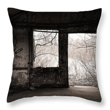 February - Comfortable Seclusion - Self Portrait Throw Pillow by Gary Heller
