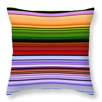 February Flowers Extract Throw Pillow