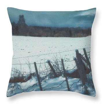 February Throw Pillow by Jutta Maria Pusl