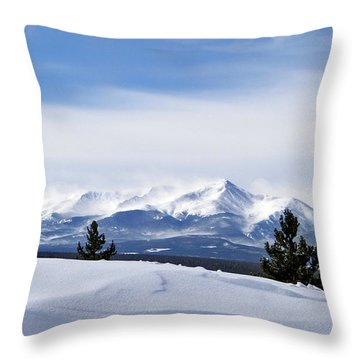 February Wind Throw Pillow