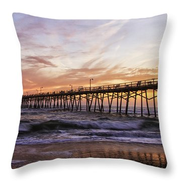 Febuary Sunset On Atlantic Beach Throw Pillow