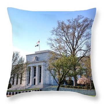 Federal Reserve Building Throw Pillow