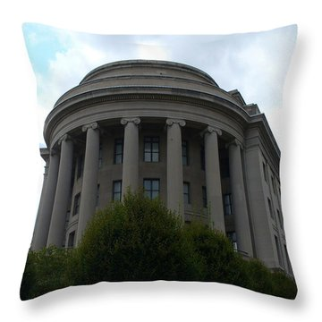 Federal Trade Commission Throw Pillow by Lingfai Leung
