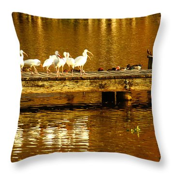 Feed Us Throw Pillow