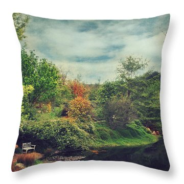 Feed Your Soul Throw Pillow by Laurie Search