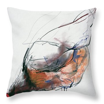 Feeding Hen, Trasierra Throw Pillow by Mark Adlington