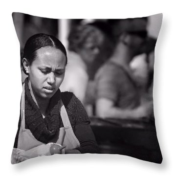 Throw Pillow featuring the photograph Feeding The Multitudes by Wallaroo Images