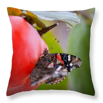 Throw Pillow featuring the photograph Feeding Time by Erika Weber