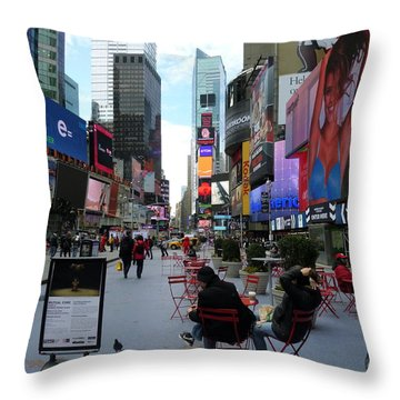 Throw Pillow featuring the photograph Feeding Time by Jackie Carpenter