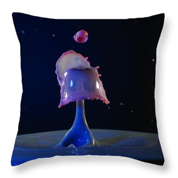 Throw Pillow featuring the photograph Feeding Time by Kevin Desrosiers
