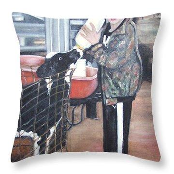 Feeding Time  Throw Pillow by Martha Suhocke