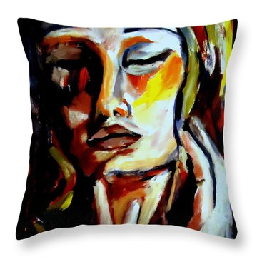 Throw Pillow featuring the painting Feel by Helena Wierzbicki