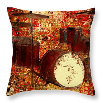 Feel The Drums Throw Pillow by Jack Zulli