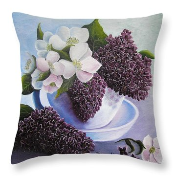 Feel The Fragrance Throw Pillow