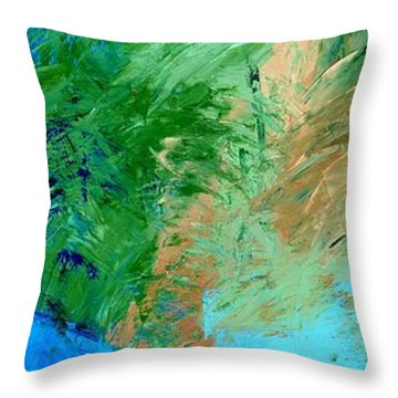 Feel The Tropical Breeze Throw Pillow