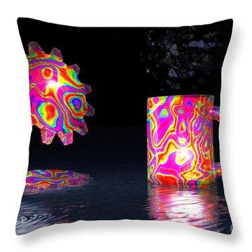 Feelin' Groovy Throw Pillow by Jacqueline Lloyd