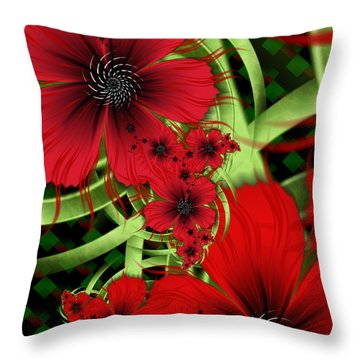 Feelin' Red Throw Pillow