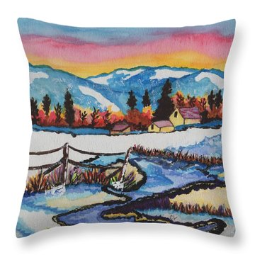 Feeling Alot Like Christmas Throw Pillow by Connie Valasco