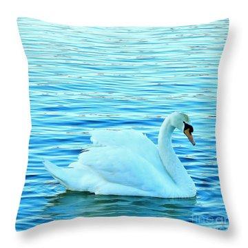 Feeling Blue Throw Pillow by Katy Mei