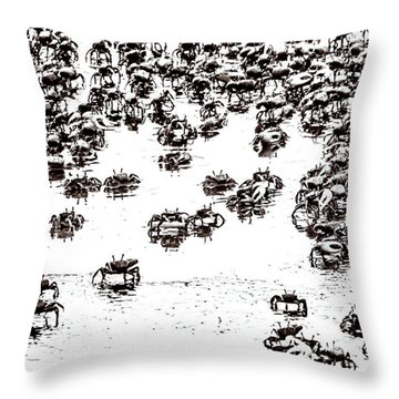 Feeling Crabby Throw Pillow by Wade Brooks