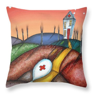 Feeling Deflated Throw Pillow