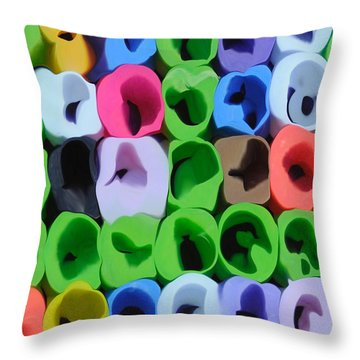 Feeling Happy Throw Pillow by Haleh Mahbod