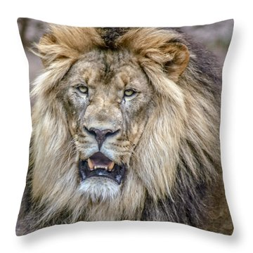 Feeling Like A King Throw Pillow