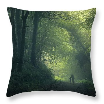 Feeling Safe Throw Pillow by Svetlana Sewell