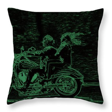 Feeling The Ride Throw Pillow by Karol Livote