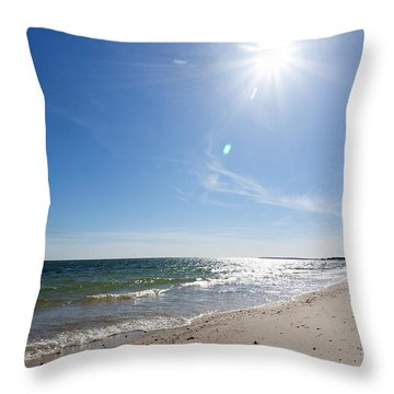 Feeling The Warmth Of Hope And Happiness Throw Pillow