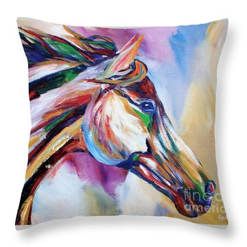Feeling The Wind Throw Pillow