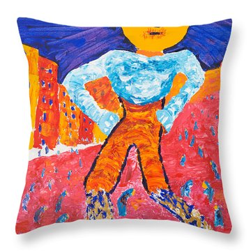 Feet Of Clay Throw Pillow