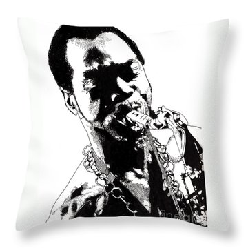 Fela Kuti Throw Pillow
