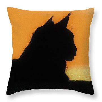Feline - Sunset Throw Pillow