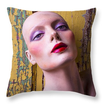 Female Mannequin Throw Pillow