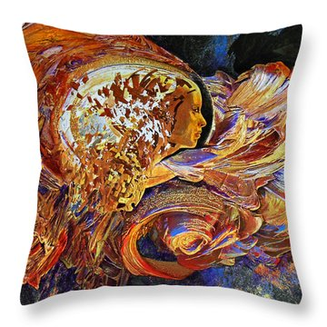 Female Seer Throw Pillow by Michael Durst