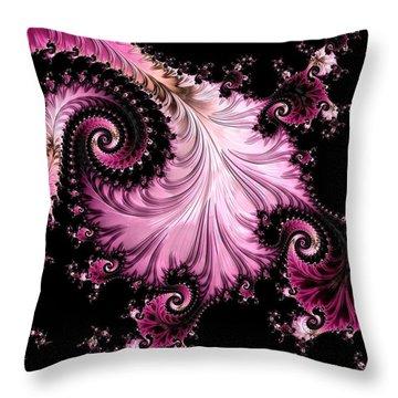 Throw Pillow featuring the digital art Femme Fatale Fractal by Susan Maxwell Schmidt