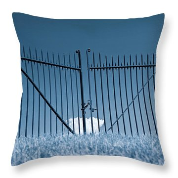 Fence And Cloud Throw Pillow