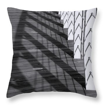 Fence And Shadows Throw Pillow
