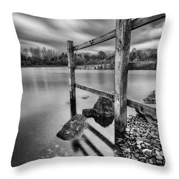 Fence In The Loch  Throw Pillow by John Farnan