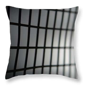 Fence Throw Pillow by Olivier Le Queinec