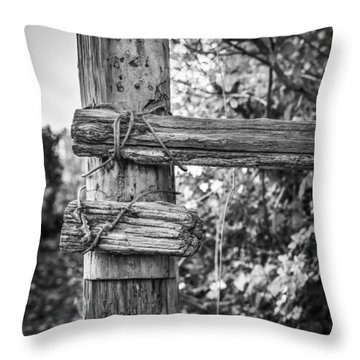 Throw Pillow featuring the photograph Fence Post by Gary Gillette