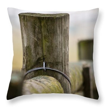 Fence Post Throw Pillow