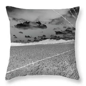 Throw Pillow featuring the photograph Fenced Inn Inverse by Tom Kelly