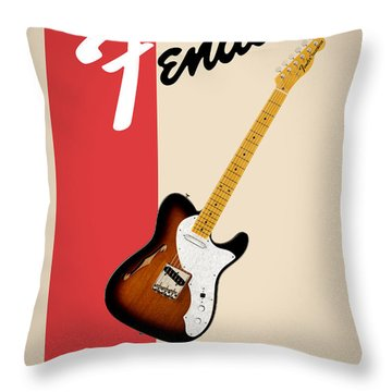 Fender All Things Rock N Roll Throw Pillow