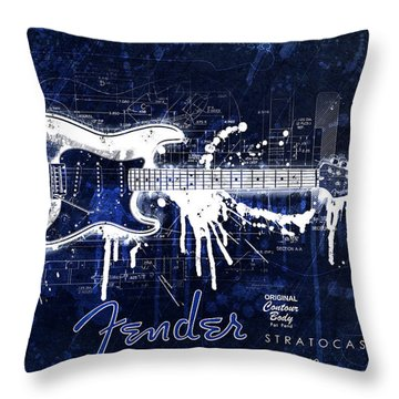 Fender Blueprint Washout Throw Pillow