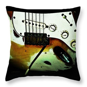 Fender Detail  Throw Pillow by Chris Berry