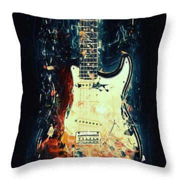 Fender Strat Throw Pillow