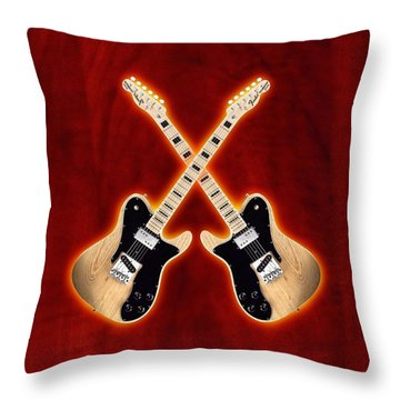 Fender Telecaster Custom Throw Pillow by Doron Mafdoos